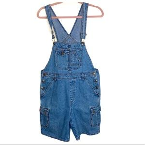 Vintage Squeeze Jeans blue jean overall pockets M